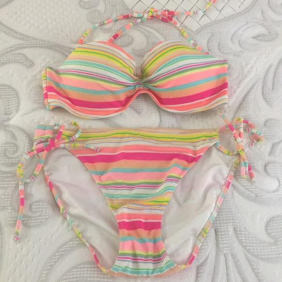 Victoria's Secret Other - VS Strapless/Halter Mutlicolor Bikini Set